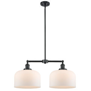 X-Large Bell Oil Rubbed Bronze Two-Light LED Chandelier