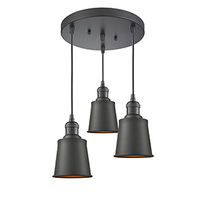 Addison Oiled Rubbed Bronze Three-Light Pendant