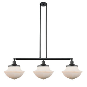 Franklin Restoration Matte Black 42-Inch Three-Light LED Island Chandelier
