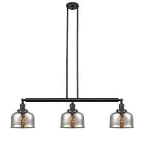 Large Bell Oil Rubbed Bronze Three-Light Island Pendant