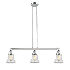 Bellmont Polished Chrome Three-Light Island Pendant with Clear Glass