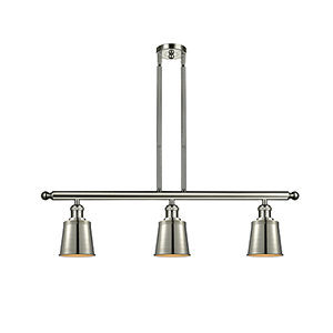 Addison Polished Nickel Three-Light Island Pendant