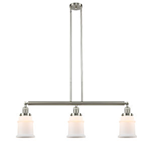 Canton Brushed Satin Nickel Three-Light Island Pendant