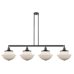 Franklin Restoration Oil Rubbed Bronze 54-Inch Four-Light Island Chandelier