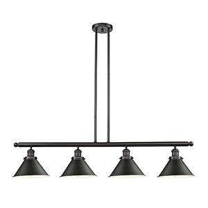Briarcliff Oiled Rubbed Bronze Four-Light Island Pendant with Oil Rubbed Bronze Metal Shade