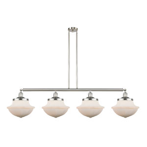 Franklin Restoration Brushed Satin Nickel 54-Inch Four-Light LED Island Chandelier