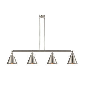 Franklin Restoration Brushed Satin Nickel 52-Inch Four-Light LED Island Chandelier