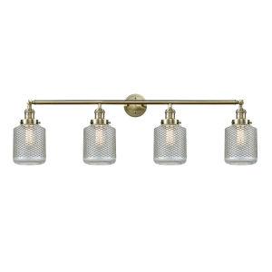 Stanton Antique Brass Four-Light LED Bath Vanity