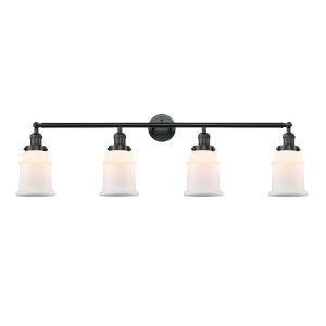 Canton Matte Black Four-Light LED Bath Vanity