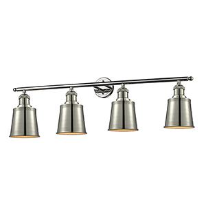 Addison Polished Nickel Four-Light LED Bath Vanity