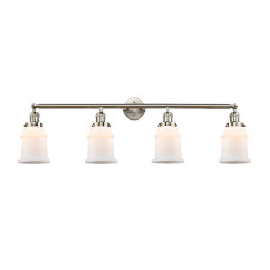 Canton Brushed Satin Nickel Four-Light LED Bath Vanity