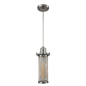 Quincy Hall Brushed Satin Nickel Four-Inch One-Light Mini Pendant