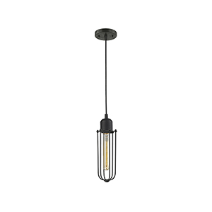 Muselet Oiled Rubbed Bronze Four-Inch One-Light Mini Pendant