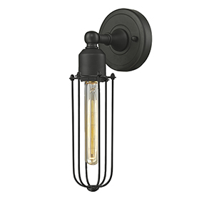 Muselet Oiled Rubbed Bronze Three-Inch One-Light Wall Sconce