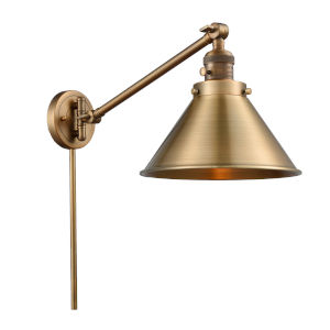 Briarcliff Brushed Brass One-Light Swing Arm Wall Sconce