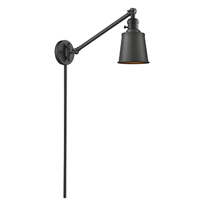 Addison Oiled Rubbed Bronze 25-Inch One-Light Swing Arm Wall Sconce