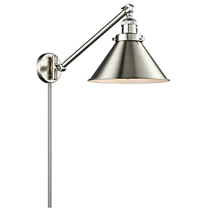 Briarcliff Brushed Satin Nickel 25-Inch LED Swing Arm Wall Sconce