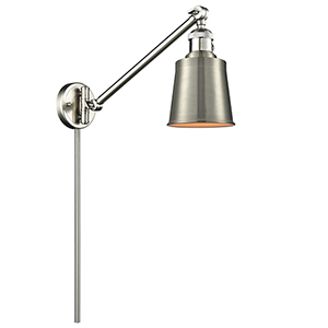 Addison Brushed Satin Nickel 25-Inch LED Swing Arm Wall Sconce
