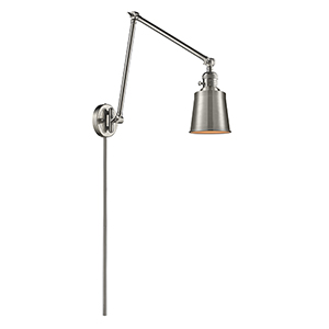 Addison Brushed Satin Nickel 30-Inch One-Light Swing Arm Wall Sconce