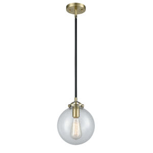 Large Beacon Black Antique Brass LED Mini Pendant