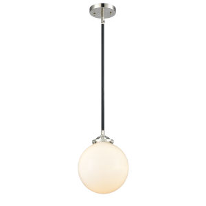 Large Beacon Black Polished Nickel One-Light Mini Pendant