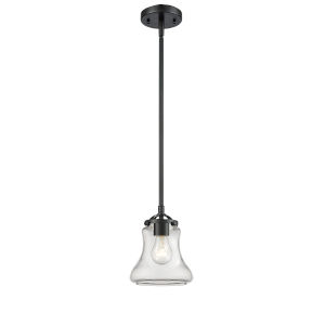 Nouveau Oil Rubbed Bronze Six-Inch LED Mini Pendant with Clear Bellmont Shade