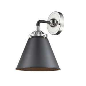 Nouveau Matte Black Polished Nickel LED Wall Sconce