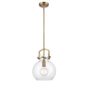 Newton Brushed Brass 13-Inch One-Light Pendant