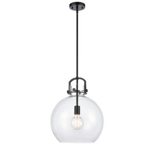 Newton Matte Black 17-Inch LED Pendant