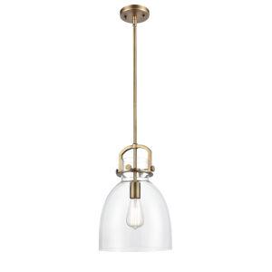Newton Brushed Brass 15-Inch One-Light Pendant