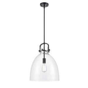 Newton Matte Black LED Pendant