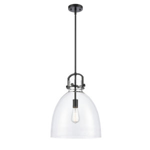 Newton Matte Black One-Light Pendant