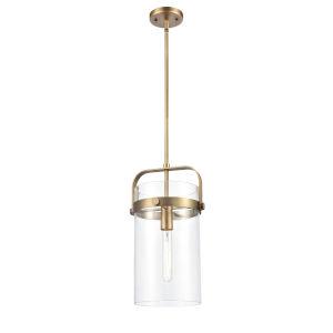 Pilaster Brushed Brass One-Light Mini Pendant