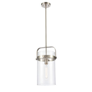 Pilaster Brushed Satin Nickel LED Mini Pendant