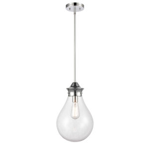Genesis Polished Chrome 10-Inch LED Pendant with Clear Glass Shade