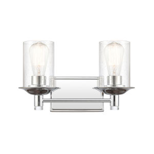 Manhattan Polished Chrome Two-Light LED Bath Vanity