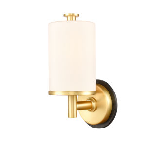 Marlowe Matte Black Satin Gold One-Light Bath Vanity