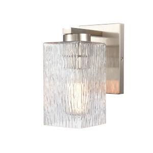 Juneau Satin Nickel One-Light Bath Vanity
