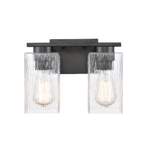 Juneau Matte Black Two-Light LED Bath Vanity