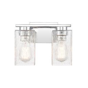 Juneau Polished Chrome Two-Light LED Bath Vanity