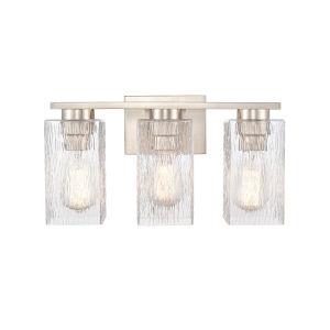 Juneau Satin Nickel Three-Light LED Bath Vanity