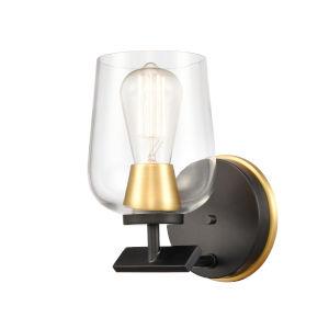 Remy Matte Black Satin Gold LED Bath Vanity