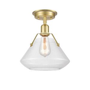 Luna Satin Brass LED Flush Mount