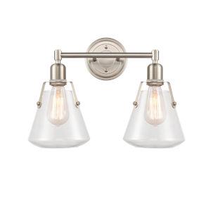 Luna Satin Nickel Two-Light LED Bath Vanity