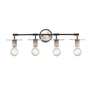 Aurora Brushed Satin Nickel Four-Light LED Bath Vanity