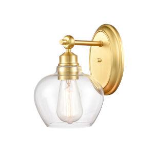 Amina Satin Gold One-Light Bath Vanity