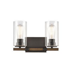 Westlake Matte Black Two-Light LED Bath Vanity