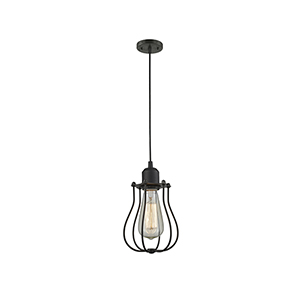 Muselet Oiled Rubbed Bronze Six-Inch One-Light Mini Pendant