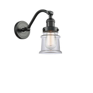 Franklin Restoration Oil Rubbed Bronze 12-Inch LED Wall Sconce with Small Clear Canton Shade