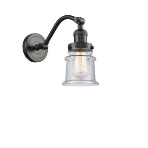 Franklin Restoration Oil Rubbed Bronze 12-Inch LED Wall Sconce with Seedy Canton Shade
